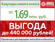 ЖК «Зелёные аллеи». Акция Выгода до 440 тысяч рублей!